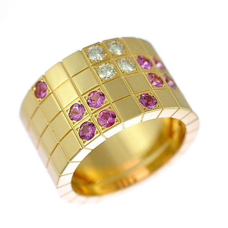 Cartier カルティエ 750 パイエットリング ピンクサファイア ダイヤモンド #53 14号 [美品][中古][送料無料]:ブランドリサイクルストアスマイル