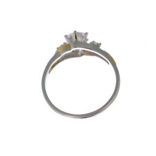 【スーパーSALE】プラチナ900K18イエローゴールドリングダイヤモンドレディースソーティング付き9号コンビカラー【美品】【】【送料無料】