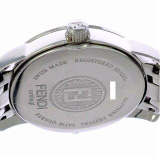 フェンディレディース腕時計クラシコ2100LFENDI文字盤黒クオーツSS【】【送料無料】