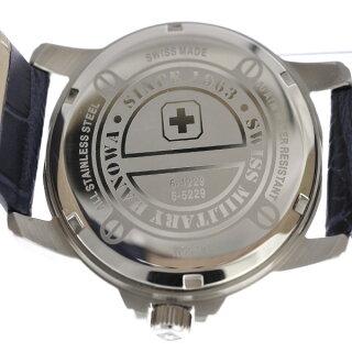 スイスミリタリー腕時計ローマンメンズML-409SWISSMILITARYROMAN文字盤ブルークオーツ【美品】【中古】