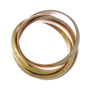 カルティエトリニティリングK18イエローゴールドピンクゴールドホワイトゴールドCartier5連スリーカラーK18YGK18PGK18WGサイズ:10.5号レディース【】【送料無料】