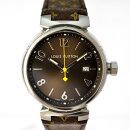 ルイヴィトン腕時計メンズタンブールGMQ1111ALOUISVUITTON文字盤黒クオーツ【美品】【中古】【送料無料】