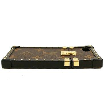 【中古】ルイヴィトン iPhone7ケース アイトランク モノグラム ブラウン×ブラック[送料無料]