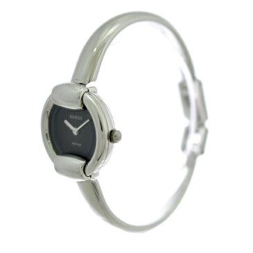 【キャッシュレス5%還元】【中古】グッチ レディース腕時計 クオーツ SS ブラック文字盤 1400L GUCCI [送料無料]