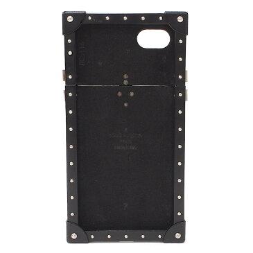【中古】ルイヴィトン iPhone7ケース 男女兼用 アイトランク モノグラムエクリプス ブラック スマホ M64489 LOUIS VUITTON [送料無料]