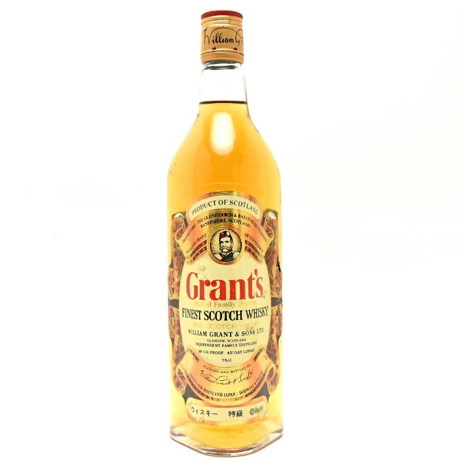 スコッチ・ウイスキー, グレーン・ウイスキー  750ml 43 Grants