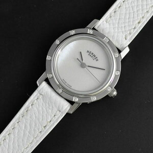 ◆HERMES エルメス◆クリッパー レディース腕時計 CL4.230.215/UBS ホワイトシェル文字盤 ...