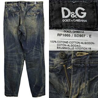 ディ&ジー/D&G/メンズ/デニムパンツ/ブルー系ボトムスロングパンツ綿ダメージ加工コットンサイズ:46【中古】