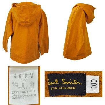 Paul Smith/ポールスミス/キッズ/長袖パーカー/フード付き/オレンジ 子供服 サイズ100 【中古】