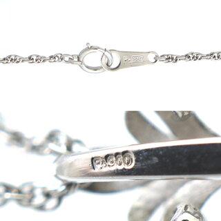 ネックレスペンダントPt900Pt850パールダイヤモンドダイヤプラチナレディースジュエリー【】【送料無料】【美品】