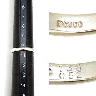 指輪リングPt900サファイア1.36ctダイヤモンド0.52ct10.5号レディースジュエリープラチナ【美品】【】【送料無料】