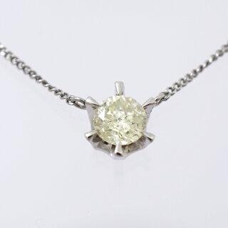 ネックレス/ペンダント/Pt850/ダイヤモンド/0.70ct/1粒ダイヤモンド[中古][送料無料]