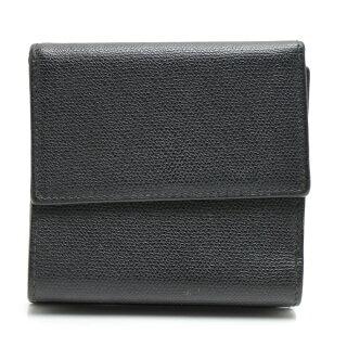 シャネルレザーWホック二つ折財布A20902レディースブラックCHANEL【中古】【送料無料】