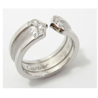 Cartier/カルティエ/K18WG/C2ダイヤリング/B402240/#48/6.7g/レディース【】【送料無料】