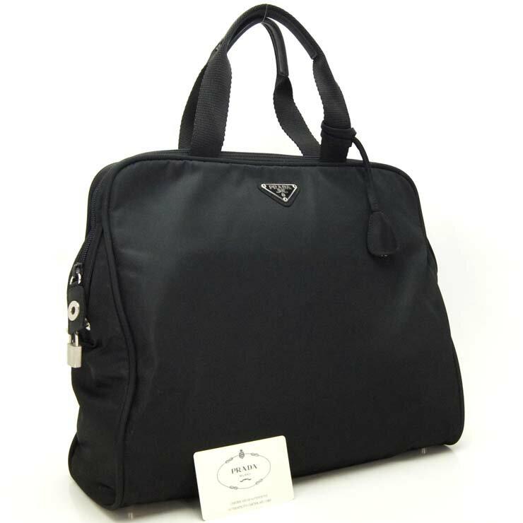 プラダ ビジネスバッグ ナイロン B7563 PRADA ブラック【中古】:ブランドリサイクルストアスマイル