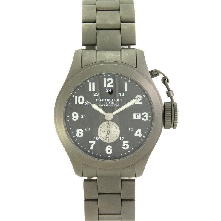ハミルトン メンズ腕時計 カーキ H774450 HAMILTON チタン 自動巻き ブラック文字盤【中古】:ブランドリサイクルストアスマイル