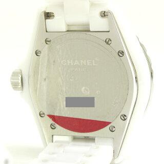 シャネルメンズ腕時計J12H0969CHANELセラミックベゼルダイヤ自動巻きホワイト【中古】【送料無料】【美品】
