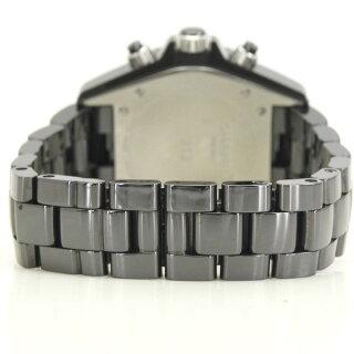 シャネルJ12ブラックメンズ腕時計クロノグラフオートマH0940CHANEL【】【送料無料】