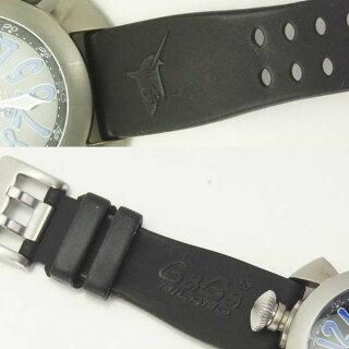 ガガミラノメンズ腕時計ダイビング48mm5040.4GaGaMILANOチタン×ラバー自動巻きブラック文字盤【】【送料無料】