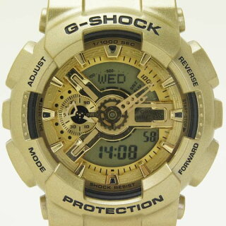 カシオメンズ腕時計ジーショッククレイジーゴールドGA-110GDG-SHOCKクオーツ【】