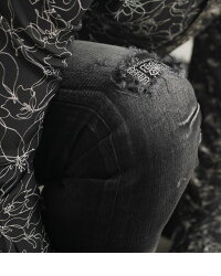 """【2021S/S新作】""""GOSTARDEFUGA【ゴスタールジフーガ】リメイク加工スキニーデニムパンツ/全2色""""【日本製】メンズ20代30代40代ファッションジーンズスキニーパンツスリムクラッシュ加工ダメージ加工インディゴ青黒ジーパンGパンジーンズズボン"""