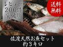 【送料無料 】 佐渡天然お魚セット約三キロ入って¥3780