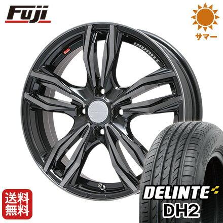 タイヤはフジ 送料無料 LEHRMEISTER レアマイスター ヴィヴァン(ブラッククリア) 4.5J 4.50-15 DELINTE デリンテ DH2(限定) 165/50R15 15インチ サマータイヤ ホイール4本セット