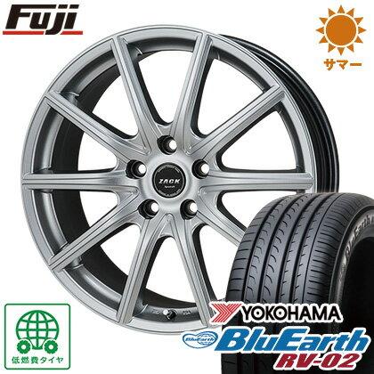 タイヤはフジ  MONZA モンツァ ZACK シュポルト01 7J 7.00-17 YOKOHAMA ブルーアース RV-02 225/60R17 17インチ サマータイヤ ホイール4本セット