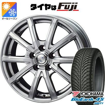 タイヤ・ホイール, オールシーズンタイヤ・ホイールセット  21555R17 17 BIGWAY EXPLODE DM-10 7J 7.00-17 YOKOHAMA 4S AW21 4YOsum20