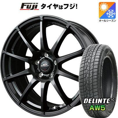タイヤ・ホイール, オールシーズンタイヤ・ホイールセット  21555R17 17 MID 7J 7.00-17 DELINTE AW5 () 4