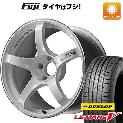 タイヤ・ホイールセット, サマータイヤ・ホイールセット  21550R17 17 YOKOHAMA TC4 7.5J 7.50-17 DUNLOP V() 4