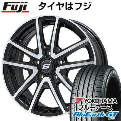 タイヤ・ホイール, サマータイヤ・ホイールセット  21545R17 17 BRANDLE M61BP 7J 7.00-17 YOKOHAMA GT AE51 4YOsum20