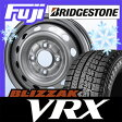 【送料無料】 BRIDGESTONE ブリヂストン ブリザック VRX 135/80R12 12インチ スタッドレスタイヤ ホイール4本セット ELBE エルベ オリジナル スチール010 4J 4.00-12