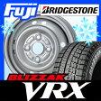 【送料無料】 BRIDGESTONE ブリヂストン ブリザック VRX 135/80R12 12インチ スタッドレスタイヤ ホイール4本セット ELBE エルベ オリジナル スチールKCA-N 3.5J 3.50-12
