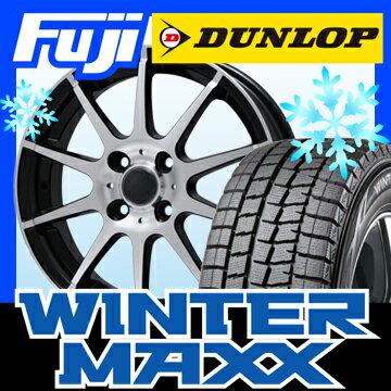 DUNLOP ダンロップ ウィンターMAXX 01 165/55R15 15インチ スタッドレスタイヤ ホイール4本セット BRANDLE ブランドル 562B 4.5J 4.50-15【DU17win】:フジコーポレーション