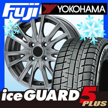 YOKOHAMA ヨコハマ アイスガード ファイブIG50プラス 155/65R14 14インチ スタッドレスタイヤ ホイール4本セット BRANDLE ブランドル 485 4.5J 4.50-14【YO17win】:フジコーポレーション