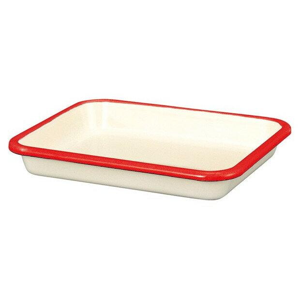 【安心のメーカー直販】バット富士ホーローハニーウェアホーローバットS(30取)ホワイト料理下ごしらえシンプル白赤青キッチン雑貨ホーロー雑貨