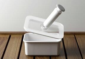 保存容器富士ホーローハニーウェアキッチン雑貨ホーロー真空琺瑯容器ヴィード浅型角容器M