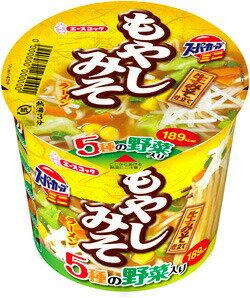 スーパーカップ(※ミニサイズ)ミニもやしみそラーメン1ケース(12個入) エースコックカップラーメンまとめ買い  沖縄配達休止中