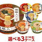 日清麺職人選べる合計3ケース(36個入)セット[送料無料日清食品麺の職人カップラーメンカップ麺詰め合わせまとめ買い箱ケース]