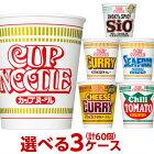 【送料無料】日清のカップヌードル(各種)選べる合計3ケース(60個入)セット【日清】