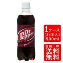 【送料無料】ドクターペッパー 500ml PET【24本×1ケース】※代引き不可・クール便不可※のし・ギフト包装不可※コカ・コーラ製品以外との同梱不可ご注文完了後のキャンセルはできかねます