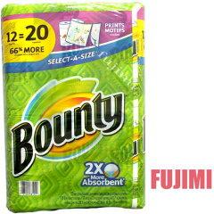 レビューで特売! バウンティ ペーパータオル 117シート 12Pセット 3241円 【 Bounty メガロー...