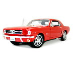 1964 1/2 Ford Mustang Coupe Red 1:18 WELLY 8889円【フォード ウェリー マスタング クーペ アメ車 ポニーカー DIECAST MODEL】 【コンビニ受取対応商品】