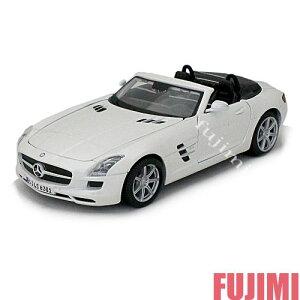 Mercedes-Benz SLS AMG Roadster wht 1/24 Maisto 3612円 【 メルセデスベンツ アーマーゲー ロードスター 白 ホワイト ミニカー ダイキャストカー ドイツ車 スーパーカー オープンカー 】【コンビニ受取対