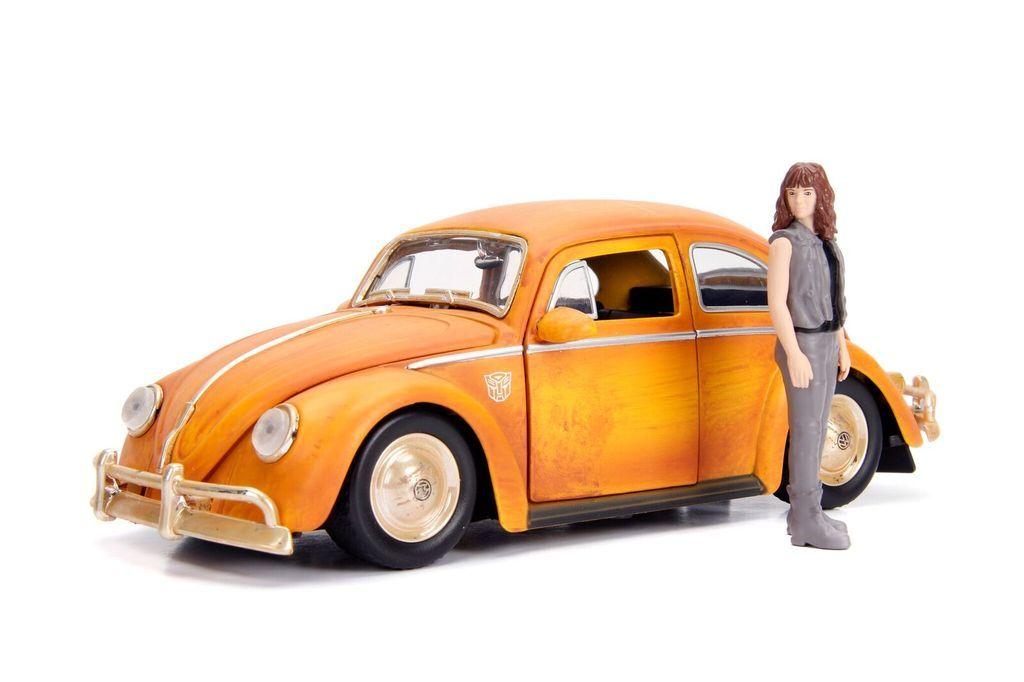 車, ミニカー・トイカー 1971 Volkswagen Beetle Transformers Bumblebee Charlie Figure 124 Jada