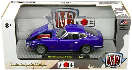 車, ミニカー・トイカー 1970 NISSAN FAIRLADY Z432 AUTO JAPAN R72 Ver.B 124 M2 MACHINES datsun