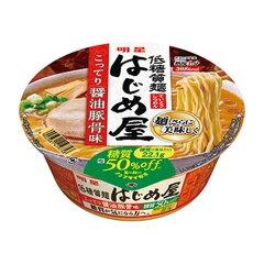 明星オリジナルの低糖質麺!明星 低糖質麺 はじめ屋 こってり醤油豚骨味 180円×12個入り 2160...