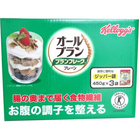 味の素 ケロッグ オールブラン ブランフレーク プレーン 業務用 450g×3袋セット 1585円