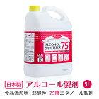 アルコール製剤_e-style_アルコールサニタイザー75_5L_【業務用】